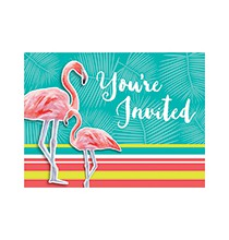 Invitation A Thème Flamingo Party Flamant Rose