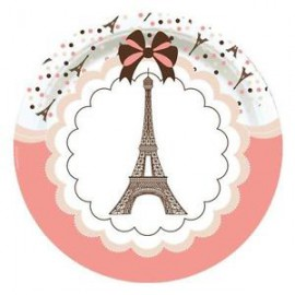 Assiettes en Papier Tour Eiffel Thème Paris