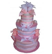 Gâteau de couches Pampers Les Petites Princesses mybbshowershop