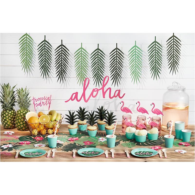d coration aloha th me flamant rose flamingo tropiques anniversaire. Black Bedroom Furniture Sets. Home Design Ideas