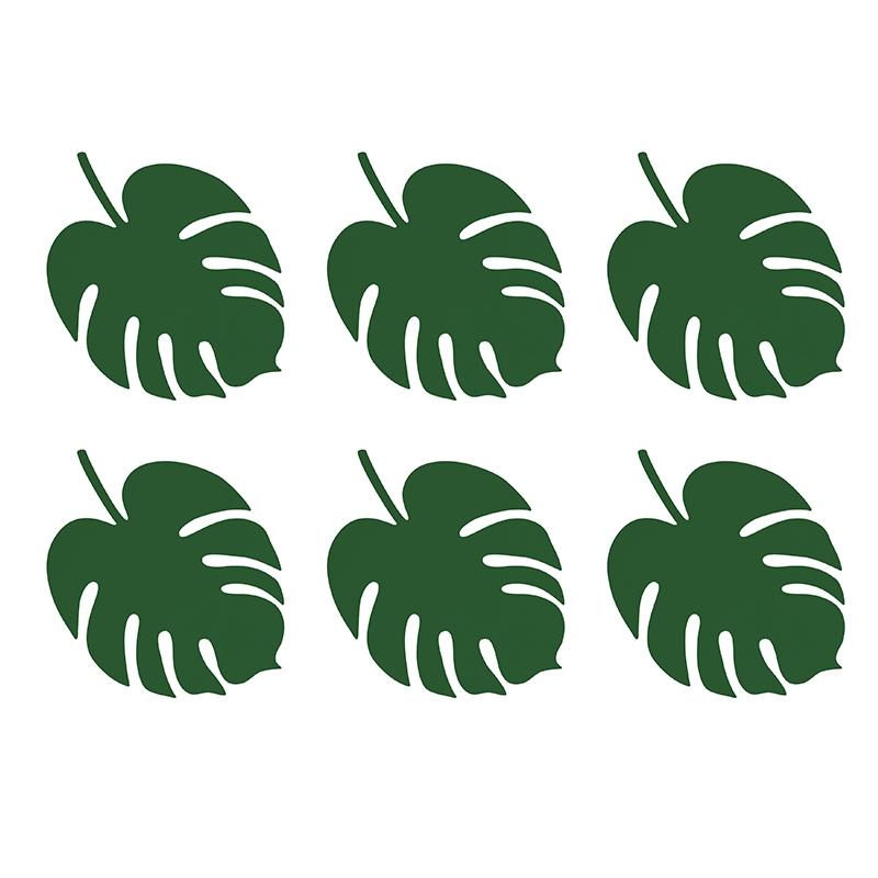 D coration feuilles exotiques vertes flamant tropiques - Comment faire du vert fonce ...