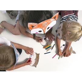 6 Masques à Colorier Animation Activité pour Enfant Anniversaire Rusé comme un renard