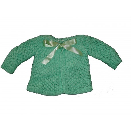 Brassière et chaussons laine fait main - vert