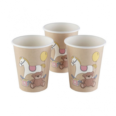 Gobelets Jetables Baby Shower Thème Cheval A Bascule