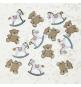 Confettis de Fête Baby Shower Thème Cheval A Bascule