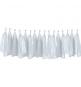 Guirlandes de Tassels Pompons Blancs en papier de soie