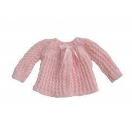 Brassière rose en laine fait main coloris rose de mybbshowershop