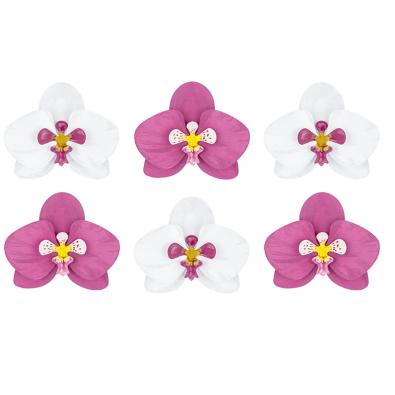 6 Orchidées Décoration Fleur en Papier Flamingo Sweet Table