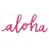 Banderole géante Aloha En Papier Rose Fushia Déco de Salle