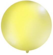 Grand ballon XXL Rond Premium jaune 100cm - à l'unité