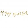 Banderole Lettres Happy Birthday Doré Or