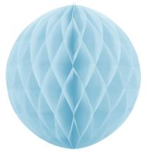 Mini Boule Alvéolée Papier Bleu Pastel 10cm à l'unité