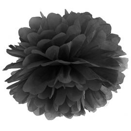 Pompon Papier de Soie 25 cm Noir Décoration de Fête