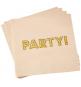 """Serviettes en Papier """"Party"""" - Rose Poudré et Doré"""