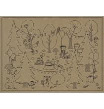6 Sets de Table à Colorier Animation Activité pour Enfant Anniversaire Rusé comme un renard