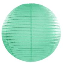 Boule de Papier Vert Pastel Lanterne 20 cm