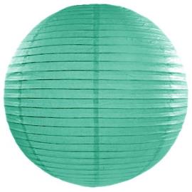 Boule de Papier Vert d'eau Lanterne 20 cm