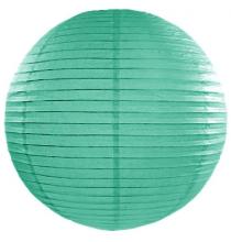 Boule de Papier Vert d'eau Lanterne 25 cm