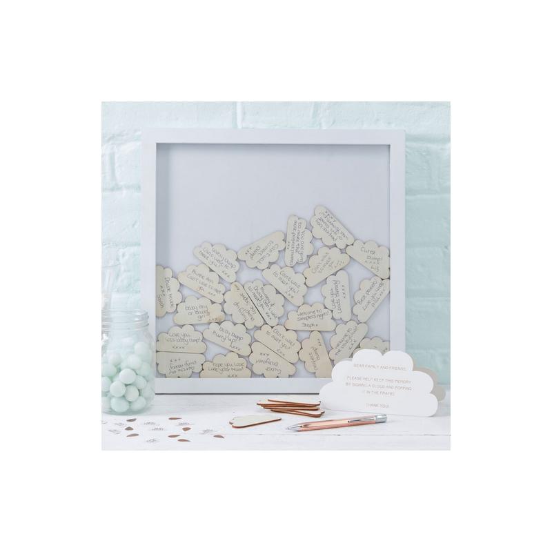 cadre d coration nuages messages d coration souvenir livre. Black Bedroom Furniture Sets. Home Design Ideas
