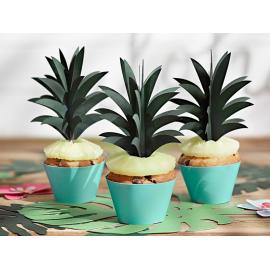 6 Piques Cup Cake Ananas Cake Topper Tropical Party Gâteau Flamant Rose Flamingo Sweet Table en papier