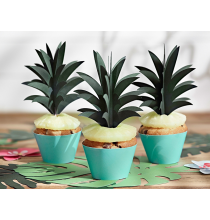 6 Piques Cup Cake Ananas Cake Topper Tropical Party Gâteau Flamant Rose Flamingo Sweet Table en papier
