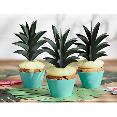 6 Piques Cup Cake Ananas Cake Topper Tropical Party Gâteau Flamant Rose  Flamingo Sweet Table en