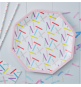 Grandes Assiettes Confettis Colorés  Party Anniversaire Enfant
