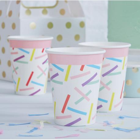 Gobelets Confettis Colorés Party Anniversaire Enfant