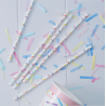 25 Pailles A Motif Confettis Colorés Party Anniversaire Enfant
