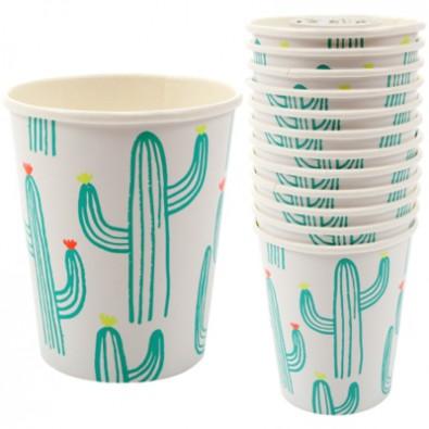 12 Gobelets Premium Cactus Party Anniversaire et Fête