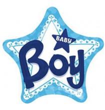 Ballon 3D XXL Etoile et Lettres Baby Boy Naissance Bébé