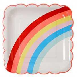 12 Gobelets Arc-en-ciel Premium Collection Rainbow Party
