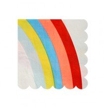 20 Serviettes Cocktail Arc-en-ciel Premium Collection Rainbow Party