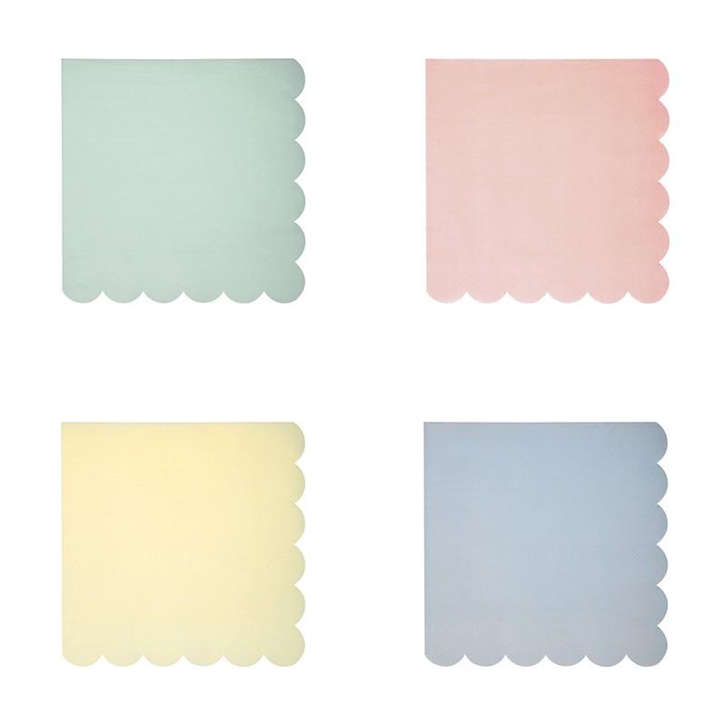 serviettes cocktail alv ol papier bleu jaune rose vert pastel. Black Bedroom Furniture Sets. Home Design Ideas