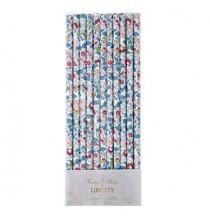 100 Moules en Papier Liberty Rose et Bleu à Pois