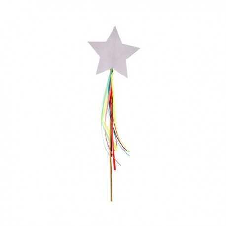 Décor pour Gateau Etoile Filante Arc-en-ciel Premium Collection Rainbow Party
