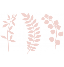 9 Décorations Feuilles Végétales Rose Pastel En Papier Décorations