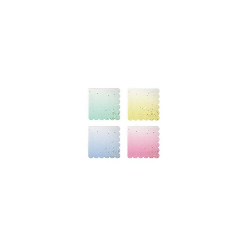serviettes cocktail pois confettis alv ol papier bleu jaune rose vert pastel. Black Bedroom Furniture Sets. Home Design Ideas