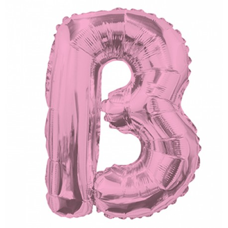 Ballon 35cm B Alu Lettre Rose Mylar