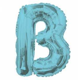 Ballon 35cm B Alu Lettre Bleu Mylar