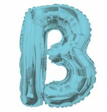 Ballon 36cm B Alu Lettre Bleu Mylar