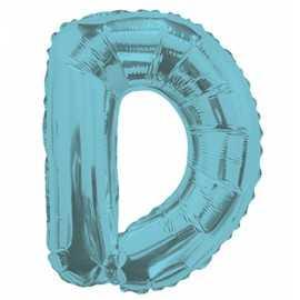 Ballon 35cm D Alu Lettre Bleu Mylar