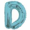 Ballon 36cm D Alu Lettre Bleu Mylar
