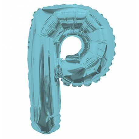 Ballon 36cm P Alu Lettre Bleu Mylar