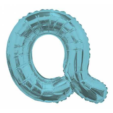 Ballon 36cm Q Alu Lettre Bleu Mylar