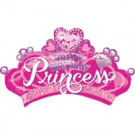 Ballon Géant en forme de Diadème Anniversaire Princesses