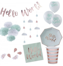 Pack Hello World Baby Shower
