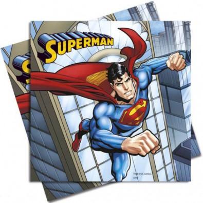 20 Serviettes en papier Superman Super Héros