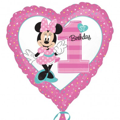Ballon Décoration Premier Anniversaire Fille Thème Minnie Mouse Disney