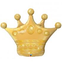 Ballon XXL Couronne Dorée Birthday Anniversaire prince et princesse